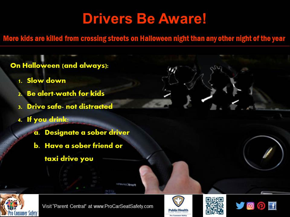 Halloween Safety Materials Pro Car Seat Safety